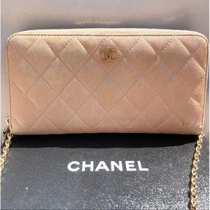 Chanel Matelasse Quilt Zip Double Chain WOC